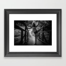 bridge ballet Framed Art Print