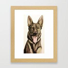 German Shepherd Custom Pet Portrait Framed Art Print