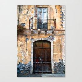 Sicilian facade of Taormina Canvas Print