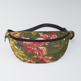 Red berries with snow Fanny Pack