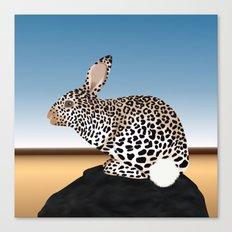 Rabbit Guepard Pattern Canvas Print