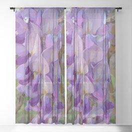 Wisteria Bloom Sheer Curtain