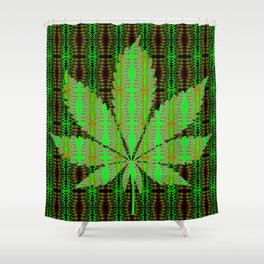 Marijuana Leaf Shower Curtain