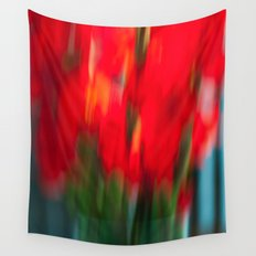 Red Gladiola Wall Tapestry