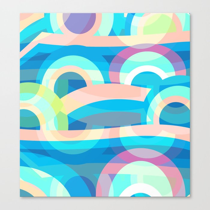 Marine abstraction Canvas Print