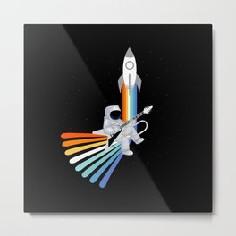 Space Rock-et Man Metal Print