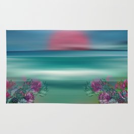 """Summer Beach Seascape"" Rug"