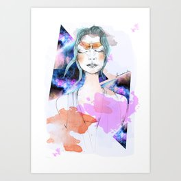 kelebek Art Print