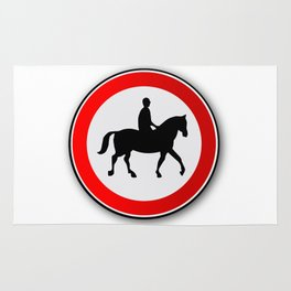 Horse and Rider Road Traffic Sign Rug