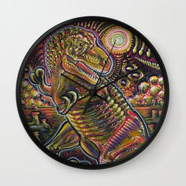 End of the World Party (Tyrannosaurus rex + UFOs) Wall Clock