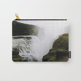 Gullfoss waterfall in Iceland - Landscape Photography Carry-All Pouch