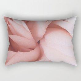 close up blush rose Rectangular Pillow