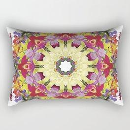 Abundantly colorful orchid mandala 1 Rectangular Pillow
