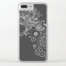 Shifting Gears Clear iPhone Case