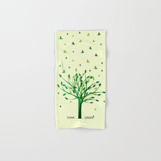 Think green! Hand & Bath Towel