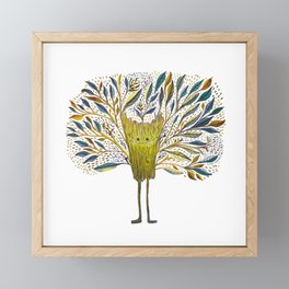 Poofy Tree Fluff Framed Mini Art Print