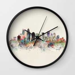 charlotte north carolina Wall Clock