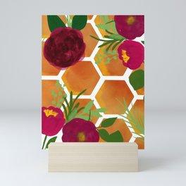 Honeycomb and Flowers Mini Art Print