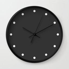 Dots Charcoal Wall Clock