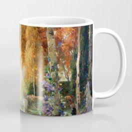 Silver and Gold - Luxuriant Autumn Garden by Thomas Mostyn Coffee Mug