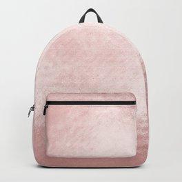 Elegant modern glamorous faux rose gold pattern Backpack