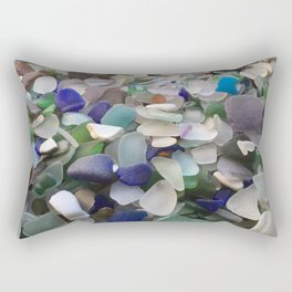 Sea Glass Assortment 2 Rectangular Pillow