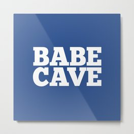 Babe Cave - Blue and White Metal Print