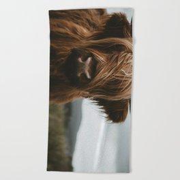 Scottish Highland Cattle Beach Towel