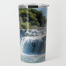 Waterfall in Krka NP - Croatia Travel Mug