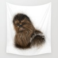 chewbacca Wall Tapestries featuring Chewbacca by KitschyPopShop