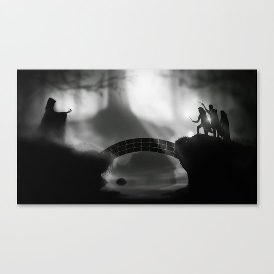 """""""But Death was cunning"""" Deathly Hallows Canvas Print"""