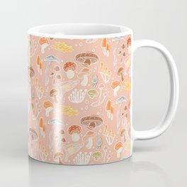 Mushrooms cottagecore illustration pink Coffee Mug