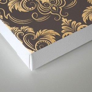 Gold foil swirls damask #10 Canvas Print