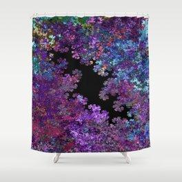 Flora-Purple Shower Curtain