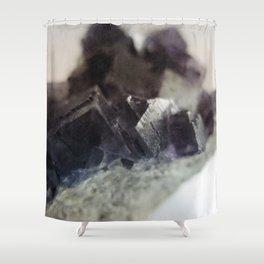 fluorite aura Shower Curtain