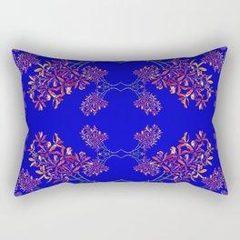 Orchids on Blue Rectangular Pillow