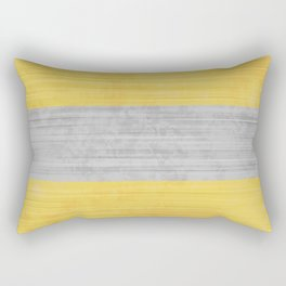 Brush Stroke Stripes: Silver and Gold Rectangular Pillow