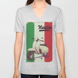 Italia Scooter vintage poster Unisex V-Neck