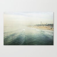 santa monica Canvas Prints featuring Santa Monica  by Bree Madden