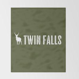 Deer: Twin Falls, Idaho Throw Blanket