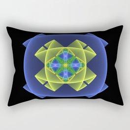 3D Graphic, Colorful Luminous Fractal Art Rectangular Pillow