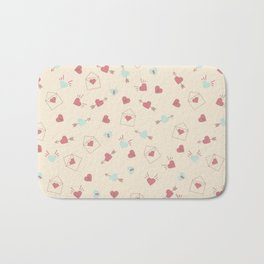 Letters for your sweetheart . Bath Mat