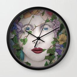 Flowergirl Wall Clock