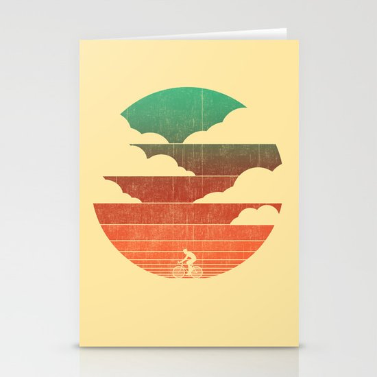 Go West (cycling edition) Stationery Cards