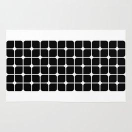 Mod Cube - Black & White Rug