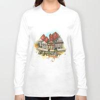 prague Long Sleeve T-shirts featuring Prague by Hande Unver