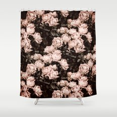 New Old Dreams - Rose Bush Pattern Shower Curtain