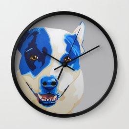 Niche the Pit Bull - Pet Portrait Wall Clock