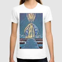 Sweden Ice Hotel Artistic Illustration Frozen Style T-shirt