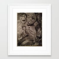 young avengers Framed Art Prints featuring Avengers by Brown Boy Art
